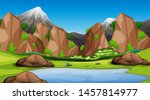 nature scene landscape template ... | Shutterstock .eps vector #1457814977