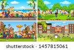 set of scenes in nature setting ... | Shutterstock .eps vector #1457815061