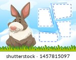 animal frame template poster... | Shutterstock .eps vector #1457815097