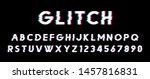 glitch vector font. eps 10 | Shutterstock .eps vector #1457816831