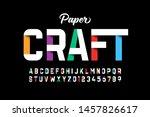 paper craft style font design ... | Shutterstock .eps vector #1457826617