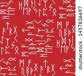 the runes of the older futarka... | Shutterstock .eps vector #1457836697
