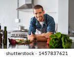 handsome smiling young man... | Shutterstock . vector #1457837621