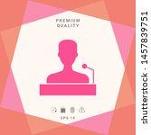 speaker  orator speaking from... | Shutterstock .eps vector #1457839751