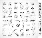 vector set of hand drawn arrows | Shutterstock .eps vector #1457852324