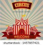 circus  fun fair  amusement... | Shutterstock .eps vector #1457857421