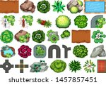 collection of outdoor nature... | Shutterstock .eps vector #1457857451