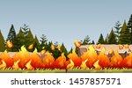 natural environment scenes... | Shutterstock .eps vector #1457857571