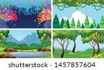 set of scenes in nature setting ... | Shutterstock .eps vector #1457857604
