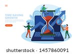 team saving time and making... | Shutterstock .eps vector #1457860091