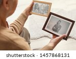 Elderly Woman With Framed...