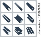 Rolled Metal Products Vector...