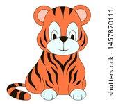 abstract small tiger. vector... | Shutterstock .eps vector #1457870111