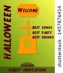 halloween party design... | Shutterstock .eps vector #1457876414
