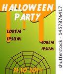 halloween party design... | Shutterstock .eps vector #1457876417