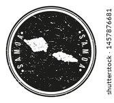 samoa map symbol. round design... | Shutterstock .eps vector #1457876681