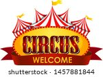 circus  fun fair  amusement... | Shutterstock .eps vector #1457881844