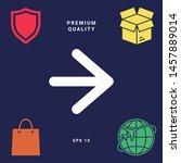 arrow next icon. graphic... | Shutterstock .eps vector #1457889014