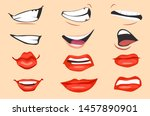 cartoon mouth expressions set.... | Shutterstock .eps vector #1457890901