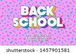vector back to school font... | Shutterstock .eps vector #1457901581