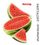watermelon  3d realistic vector ... | Shutterstock .eps vector #1457911094