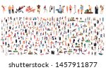 crowd of flat illustrated... | Shutterstock .eps vector #1457911877