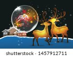 merry christmas and happy new... | Shutterstock .eps vector #1457912711