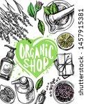 organic store  cosmetics  soap  ... | Shutterstock .eps vector #1457915381