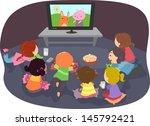 illustration of stickman kids... | Shutterstock .eps vector #145792421