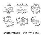 hand drawn eco farmer's market... | Shutterstock .eps vector #1457941451