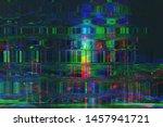 abstract glitch art background... | Shutterstock . vector #1457941721
