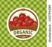 ripe strawberries in wicker... | Shutterstock .eps vector #145794389