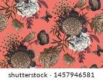 luxury floral seamless pattern. ... | Shutterstock .eps vector #1457946581