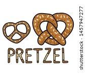 cute pretzel cartoon vector... | Shutterstock .eps vector #1457947277
