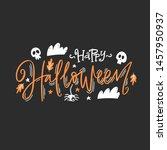 happy halloween vector... | Shutterstock .eps vector #1457950937