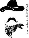 Cowboy Icon. Retro Hat ...