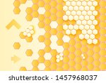 honeycombs and arrows vector... | Shutterstock .eps vector #1457968037