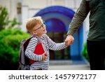 child go back to school. pupil...   Shutterstock . vector #1457972177