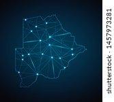 botswana map   abstract... | Shutterstock .eps vector #1457973281