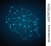 tanzania map   abstract... | Shutterstock .eps vector #1457973314