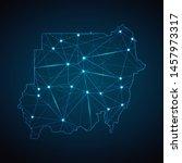 sudan map   abstract geometric... | Shutterstock .eps vector #1457973317