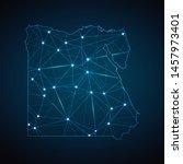 egypt map   abstract geometric... | Shutterstock .eps vector #1457973401
