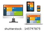 responsive web design on... | Shutterstock .eps vector #145797875