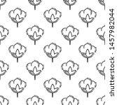 cotton flower icon seamless... | Shutterstock .eps vector #1457982044