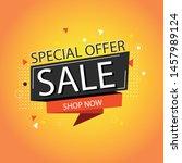 special offer banner   vector... | Shutterstock .eps vector #1457989124