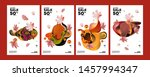 autumn sale background layout... | Shutterstock .eps vector #1457994347