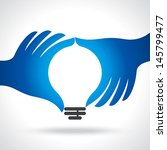 reach idea with human hand   Shutterstock .eps vector #145799477