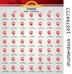 brain thinking icons red... | Shutterstock .eps vector #145799777