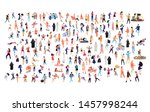 crowd of flat illustrated... | Shutterstock .eps vector #1457998244