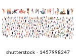 crowd of flat illustrated... | Shutterstock .eps vector #1457998247